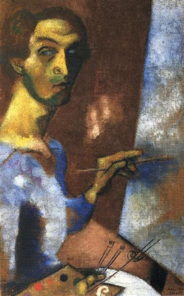 self-portrait-with-easel-1914large